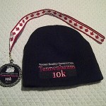 Tannenbaum 10k 2012 Medal and Toque
