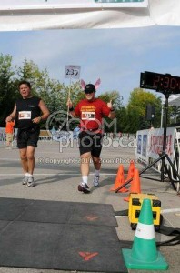 Pacing the Oakville Half-Marathon 2011