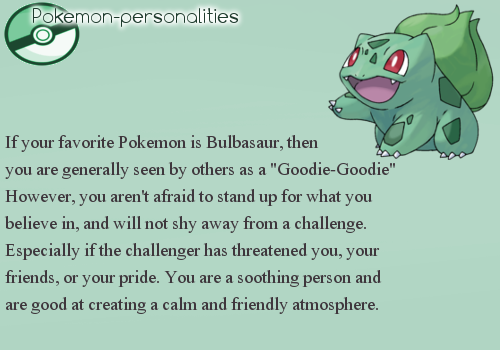 From Pokemon Personalities Tumblr
