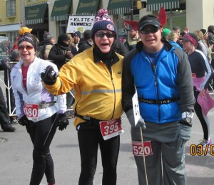 With our John and our new friend Sarah after the Chilly Half Marathon (Photo by Bob Didler)