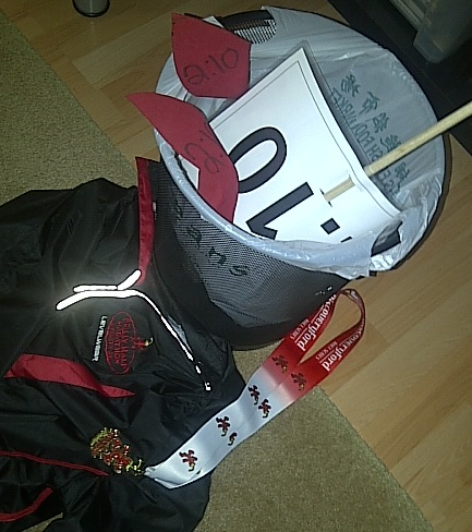 Pacing gear for the Chilly Half Marathon 2013 in the trash