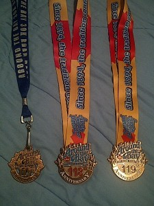 Around The Bay 3-peat medals!