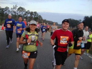 Running the Walt Disney World Half Marathon in 2012 with famous ultrarunner, blogger and now author Vanessa Runs