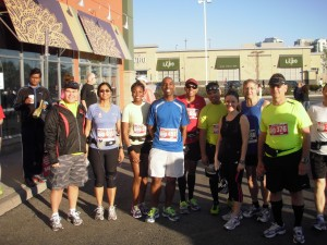 Square One Running Room Marathon Clinic and friends
