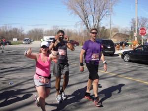 Nicole is so photogenic... even 26km into a marathon