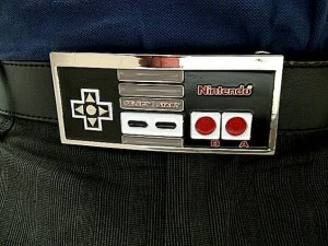 Nerd cred: I have an oldschool NES belt buckle
