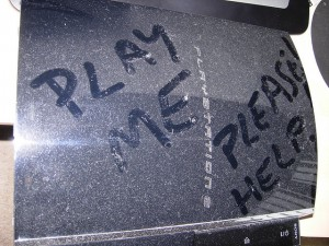 Not actually my PS3, but the message seemed appropriate (source)