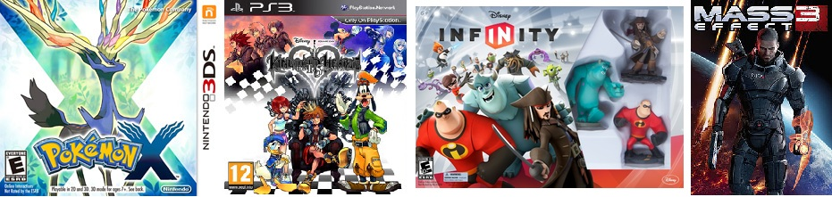 Potential video game distractions this fall: Pokemon XY, Kingdom Hearts HD 1.5, Disney Infinity and Mass Effect 3