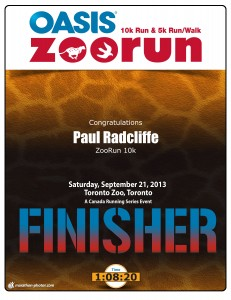 Finisher certificate! I find myself excited by these now.