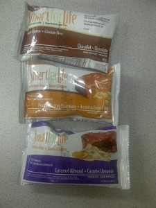 Chocolate, Peanut Butter Chocolate, and Caramel Almond Smart for Life Protein Bars