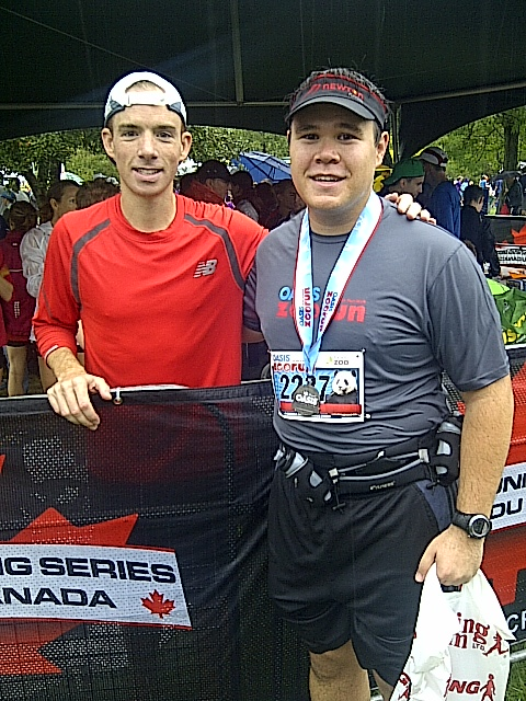 With Canadian Olympian and winner of the Oasis Zoo Run, Reid Coolsaet!!