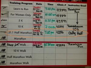 Half-Marathon Clinic I'll be leading starting November 12!