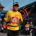 Me running the Chicago Marathon in 2012 for Team LiveSTRONG
