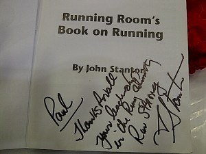 John Stanton signed my copy of the Running Room's Book on Running