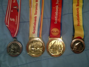 The whole STWM set! Half in 2010, Fulls in 2011 and 2012, and now 5k in 2013! #Shiny!!