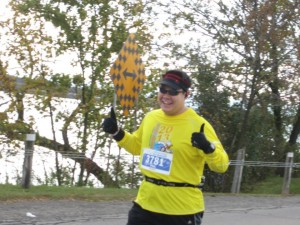 Running the Niagara Falls Half-Marathon (photo by Mark Young)