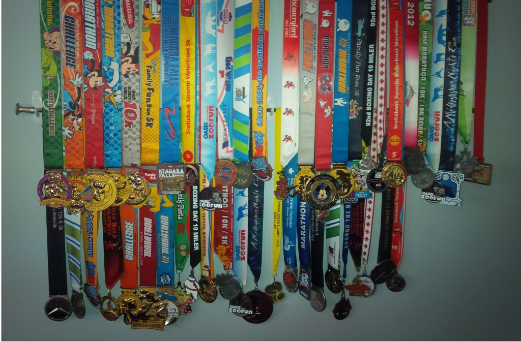 My medal collection as of January 2014
