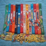 Three years of Walt Disney World Marathon weekend medals