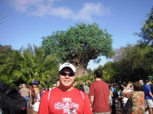 At Disney's Animal Kingdom after the 10k