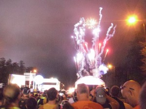 Fireworks at the start of the race, naturally...