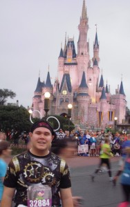 At Magic Kingdom during Walt Disney World Half-Marathon