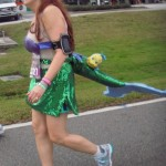 Even mermaids can run... somehow...