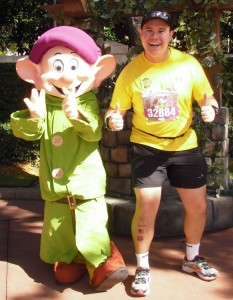 Dopey! I was doing the Dopey challenge! I had to stop for this photo!!