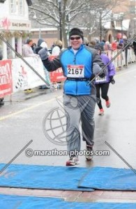 Finishing the Chilly Half-Marathon