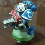 Space Marine Veteran with Heavy Bolter painted by me