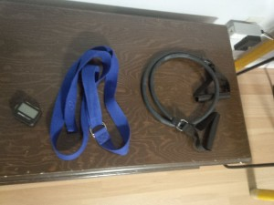 Gymboss, strap, and resistance band