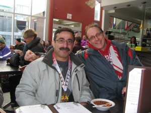 Javaid and Rob after the Chilly Half Marathon