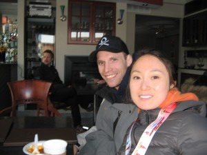 Jin and her husband Scott after the Chilly Half Marathon