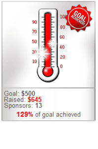 Thank you to my donors who helped me exceed my fundraising goal!