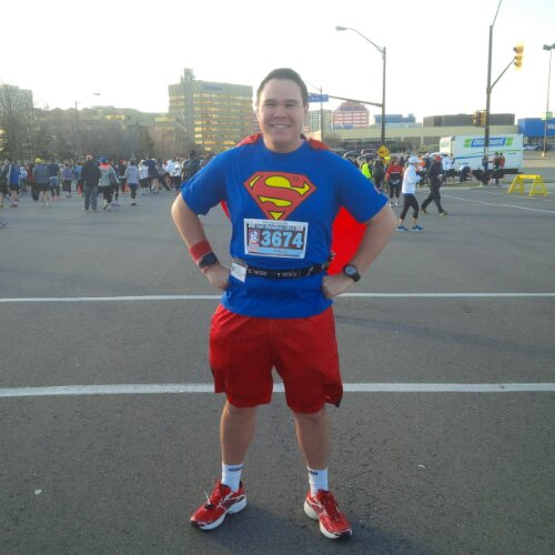 Feeling 'Super' before the Mississauga Half-Marathon