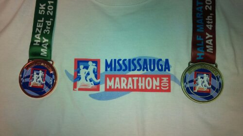This year's Mississauga Medals and the 5k cotton shirt