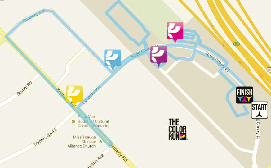 Course Map. Approximately 5k (??)