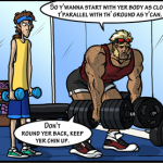 Commander giving good weightlifting advice