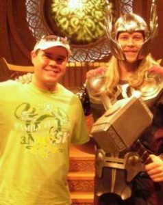 With Thor in Disneyland