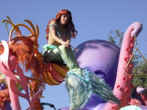 Ariel during the parade