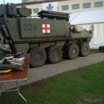 Medical APC at the Ottawa Army Run expo. The image seemed appropriate