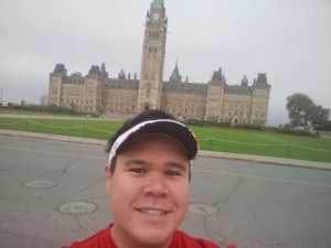 Obligatory patriotic selfie in front of Parliament Hill in Ottawa