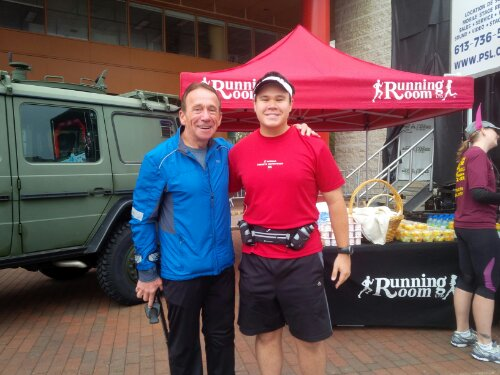 With the Running Room's John Stanton at the Ottawa Army Run's Friendship Run