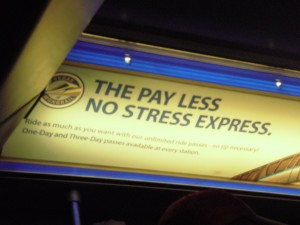 The pay less no stress express...