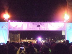 Start line of the Rock 'n' Roll 5k presented by SLS Las Vegas