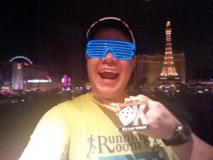 Obligatory selfie with bling after the Rock 'n' Roll 5k presented by SLS Las Vegas