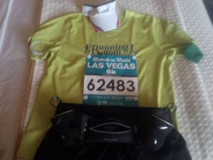 Flat Runner for the Rock 'n' Roll Las Vegas half Marathon