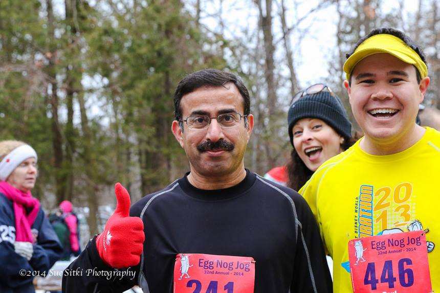 Totally photobombed before the race. Image Credit Sue Sitki Photography (image source)