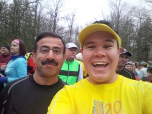 Pre-race selfie with Javaid!