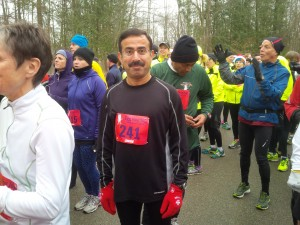 Javaid before the race