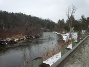 Stream in wintertime